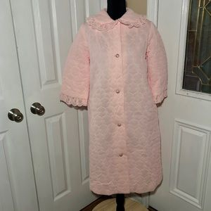 VINTAGE QUILTED HOUSECOAT ROBE